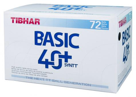 Tibhar Basic SYNTT NG 40+ Trainings-Bälle, 72 Stück